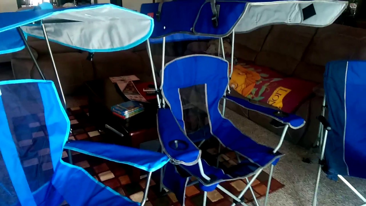 folding canopy chair santa hat covers dollar tree the renetto and kelsyus chairs youtube