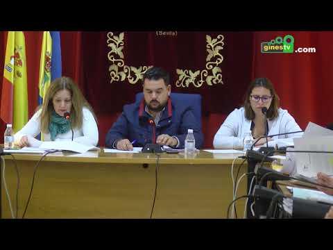Pleno ordinario del Ayuntamiento de Gines. 30 noviembre 2017