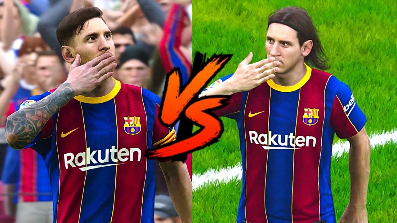 PES 2021 - Young Messi Vs. Old Messi - Who Wins? La Pulga | HD