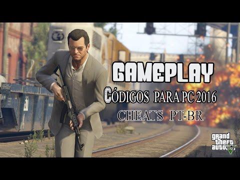 GAMEPLAY GTA 5 - CODIGOS DE TRAPAÇAS - CHEATS 2016