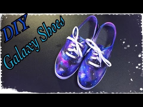 788b4b42cf9c76 DIY Sharpie Galaxy Shoes - YouTube