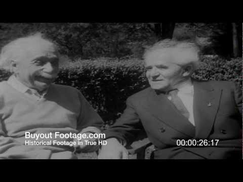 HD Stock Footage Ben-Gurion Meets Einstein 1951 Newsreel