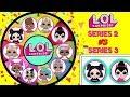 LOL SURPRISE Series 2 VS Series 3 Spinning Wheel Game Toy Surprises