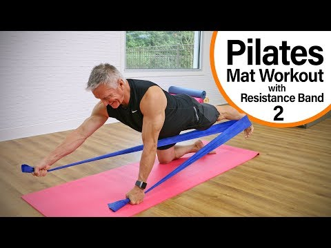 Intermediate Pilates Mat Workout with Resistance Band 2 - 15 Minute