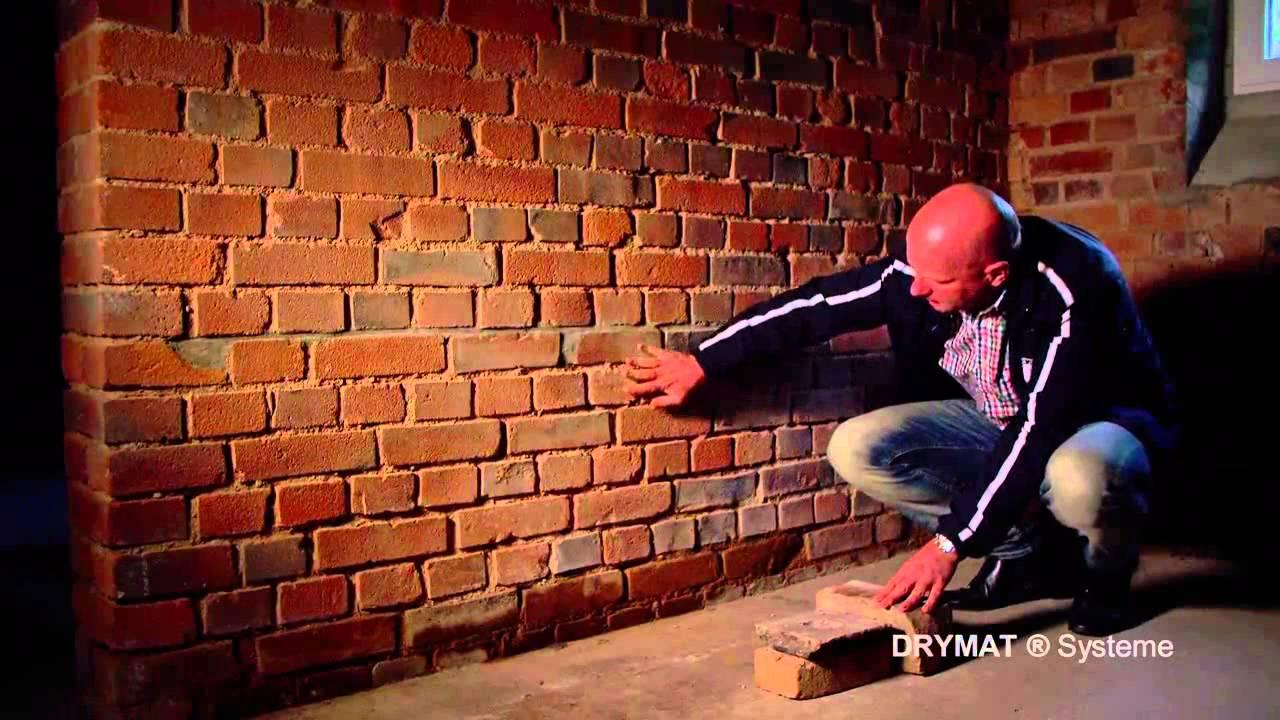 Fantastisch DRYMAT System 11 Trockenlegung Haus Mauer Keller deutsch - YouTube WJ89