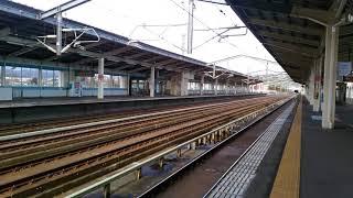 東北新幹線320km/h通過シーン@白石蔵王駅