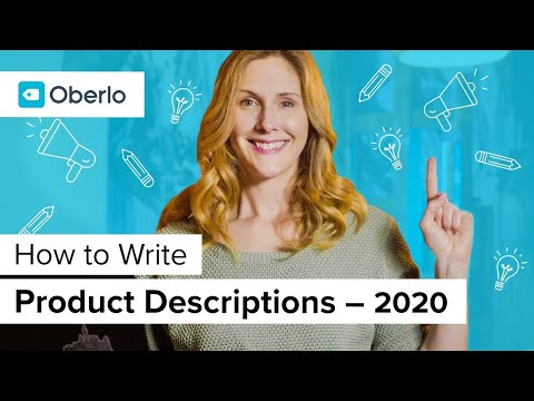 How To Write Product Descriptions That Sell In 2020 | Oberlo Dropshipping