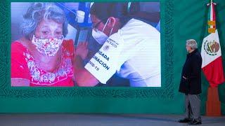 Vacunación contra COVID-19 avanza y no se detendrá. Conferencia presidente AMLO