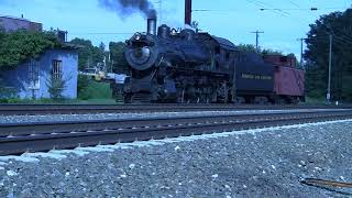 Strasburg Railroad Freight with Steam shoving. in Full 1080 HD.
