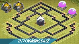 Clash Of Clans - Best Town hall 7 (TH7) Farming Base With Air Sweeper 2015