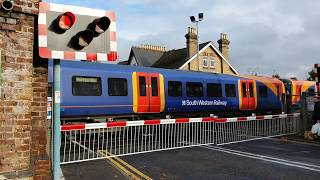 Addlestone Level Crossing, Surrey