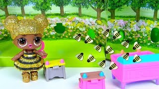 СІМЕЙКА КВІН БІ Ляльки Лол Сюрприз! Мультик про бджіл на дачі у Барбі! Відео для дітей Lol Surprise