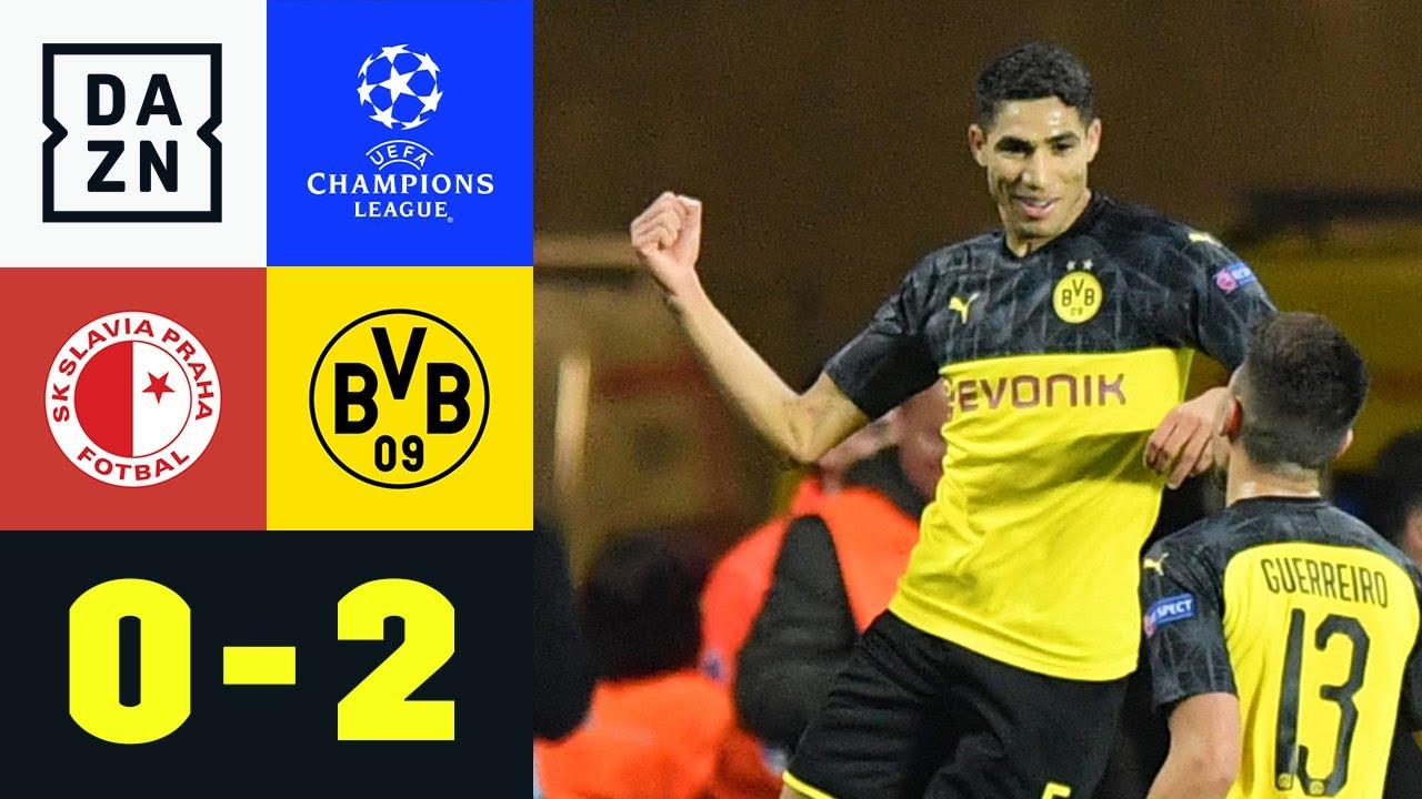 Doppelpacker Hakimi zum Pflichtsieg: Slavia Prag - Dortmund 0:2 | UEFA Champions League | DAZN