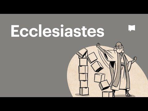 Read Scripture: Ecclesiastes