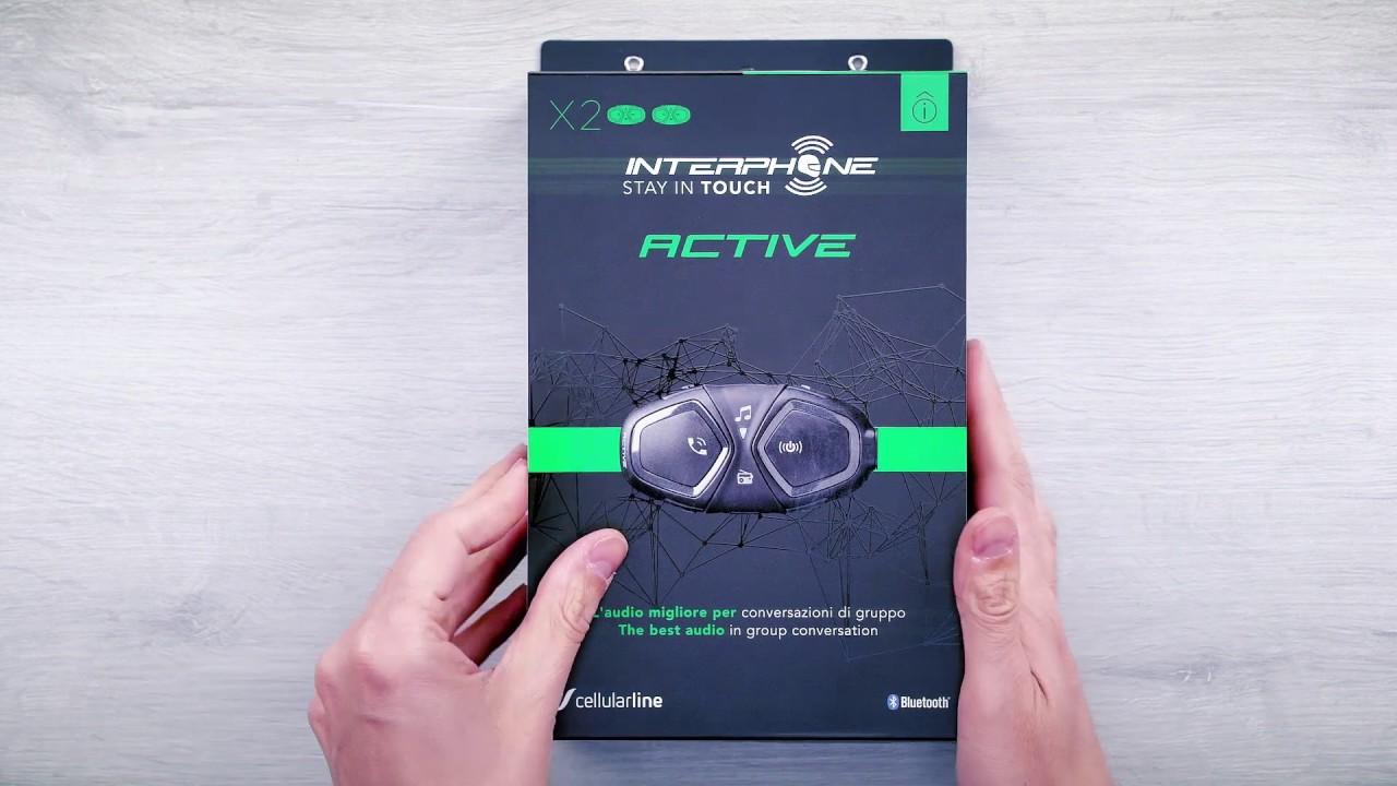Interphone Active, presentación de producto y contenido del pack