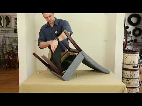 How to Assemble Glitzhome DIY Dining Chair - Step by Step