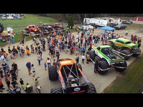 Monster Truck Throwdown (Bridgeport Speedway, Swedesboro NJ) - Wheelies, Qualifying, & Racing