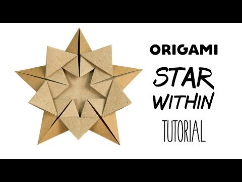 "Origami Star Tutorial ""Star Within"" (Ali Bahmani) ★ Paper Kawaii"