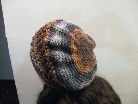 Slouchy Beret - Crochet Tutorial - YouTube 5740efee9d6