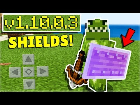 How To Use Shields In Minecraft Pocket Edition 1 10 Beta Youtube