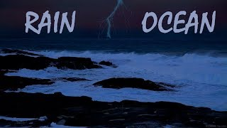 Ocean and Rain Sounds 🔴 Relaxing Sleep Rain and Ocean Waves Sound