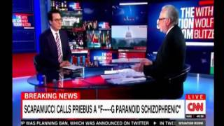 Scaramucci calls Priebus is a f******g paranoid schizopherenic among other profanities Ryan Lizza