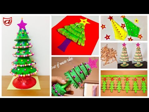 6 Easy Christmas Tree Crafts Ideas | Best Out Of Waste DIY Christmas Tree