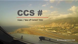 Take-off from Caracas Simon Bolivar Intl airport (CCS/SVMI) Venezuela (Cockpit view)