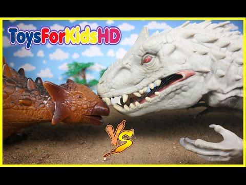 Videos de Dinosaurios para niños 🐊Indominus Rex v/s Ankylosaurus 🐊Dinosaurios de Juguete/Dinosaurs