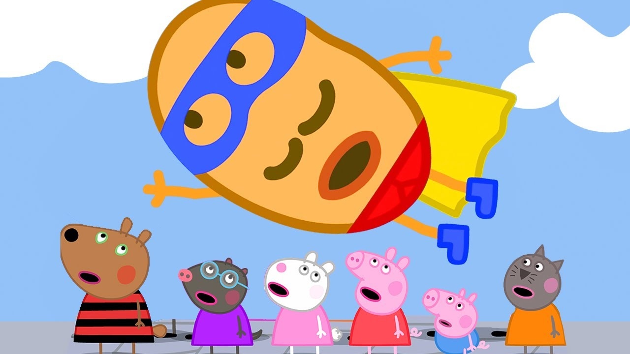 Peppa Pig Official Channel   Peppa Pig's Super Hero - Super Potato!