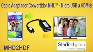Cable adaptador MHL micro usb a HDMI ve tu telefono en tu TV