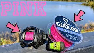 PINK Fishing Line is STRONG - Topwater Lures ONLY - (GODLINE)