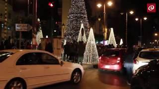 إضاءة شجرة الميلاد في ساحة ساسين