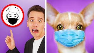 Как пронести животных в супермаркет Смешные трюки с животными