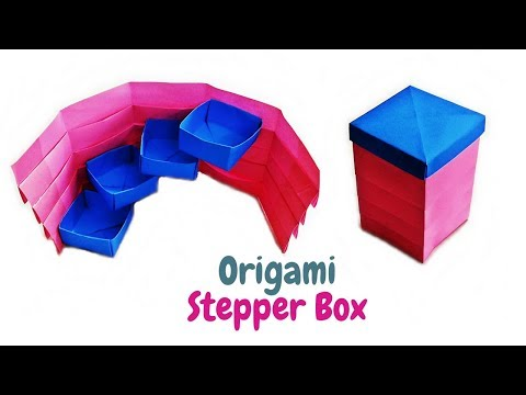 How to Make- Origami Stepper Box | Tower Gift Box DIY | Useful Origami Box | Craftastic