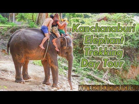 River Kwai Elephant Trekking Tour Kanchanaburi Elephant Ride Bamboo Rafting Tour