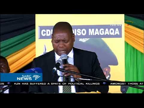 Speakers pay tribute to slain ANC councillor Sindiso Magaqa