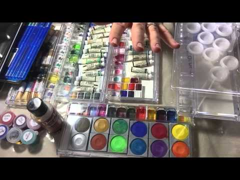 Watercolor paints: keeping records