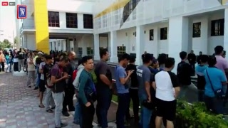 Perak fans buying tickets for the Malaysia Cup final