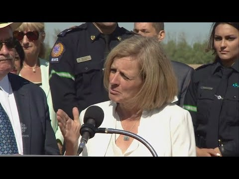 Rachel Notley says the Kinder Morgan pipeline expansion will go ahead