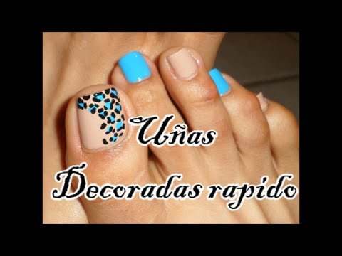 Colores Azul, Negro y Nudo Decoración de Uñas para los Pies/Easy Toe Nails  Art Blue,Black \u0026 Nude , YouTube