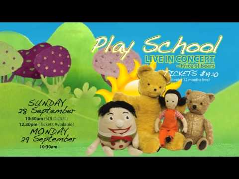Play School Live in Concert at Nroths 28 and 29 September 2014