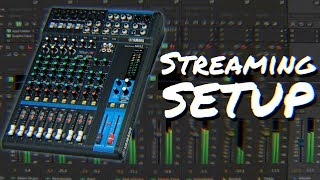 How to set up a mixer for live streaming | Yamaha MG12XU Virtual Walkthrough