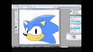 how i draw classic sonic