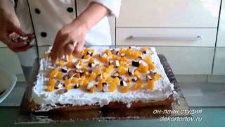 Сборка прямоугольного составного торта