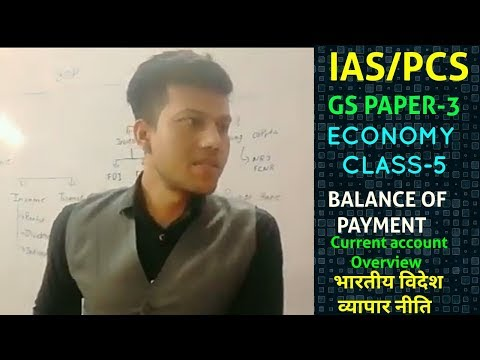 Economy Class-8 Balance of Payment भुगतान सन्तुलन Current account overview & foreign trade policy