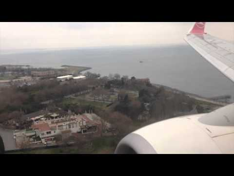 flight and landing to Bishkek, Istanbul and DUS airport