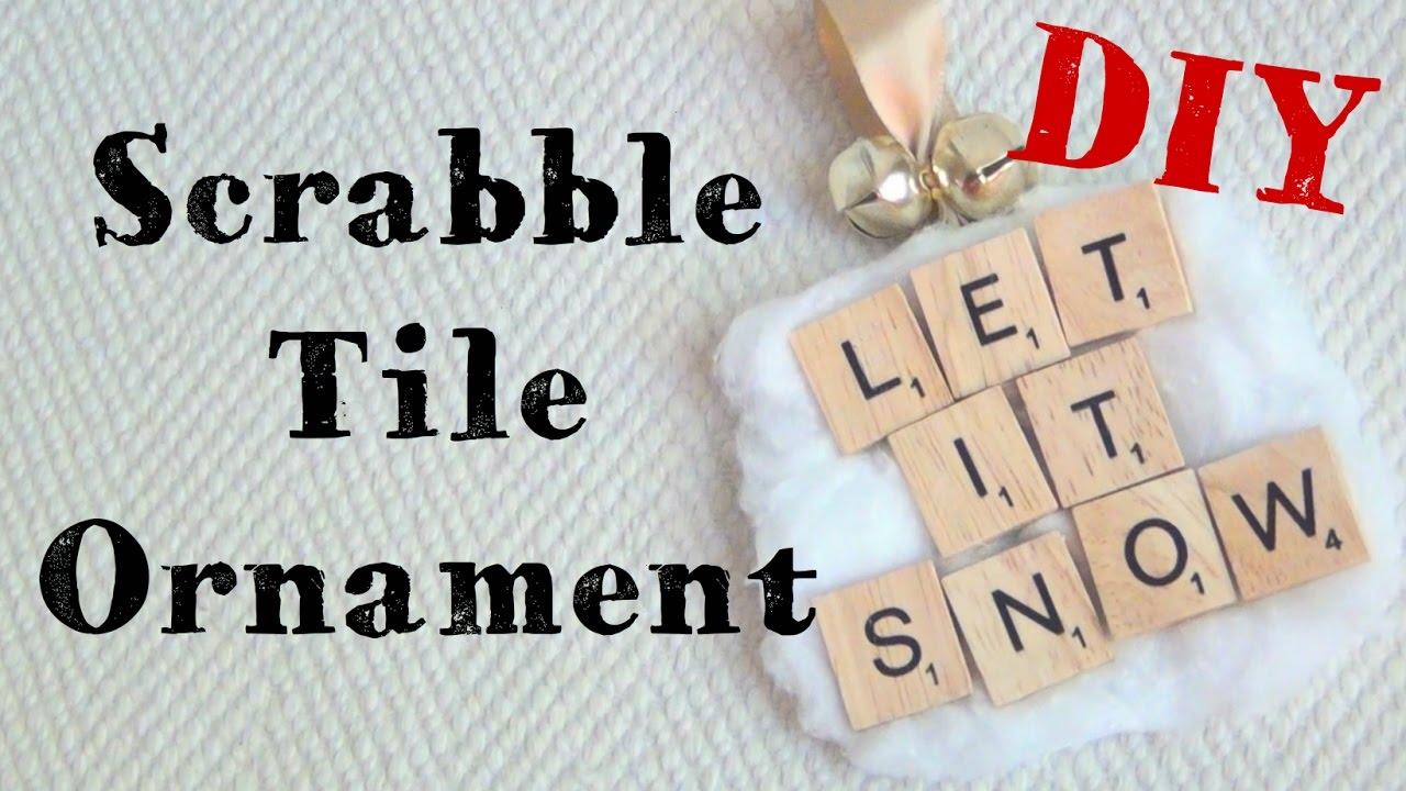 Let It Snow Scrabble Tile Ornament 12 Diys Of Christmas