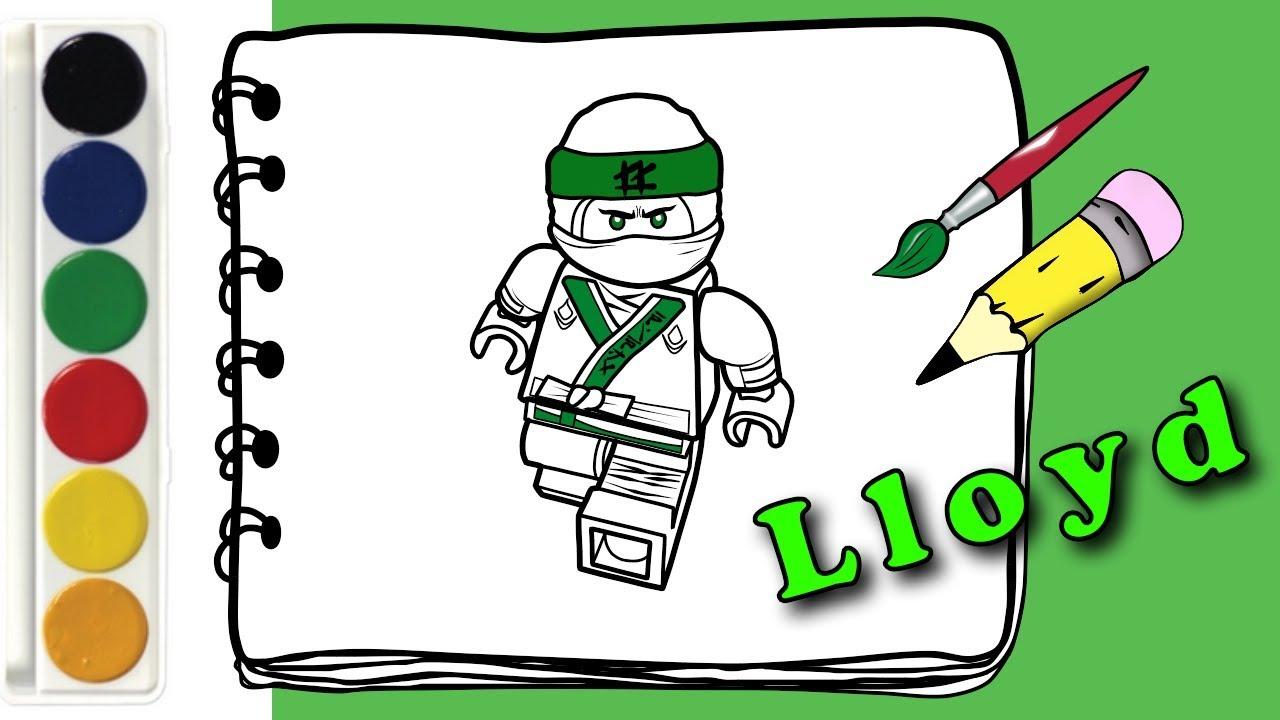 Раскраска Лего Ниндзяго как нарисовать Ллойда Раскраска ...