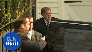 General Barr heads to work on the eve of Mueller report release